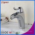 Fye simples cromado banheiro lavatório de latão torneira de água quente e fria torneira misturadora