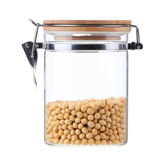 new style 1250 ML food clip top lid glass bottle jar  nordic storage jar
