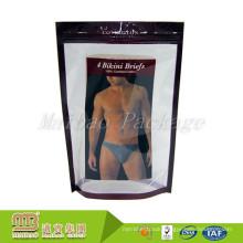 Resealable Zipper/Ziplock Custom Cmyk Gravure Printing Mens Plastic Underwear Packaging Bag