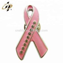 Shuanghua Design personnalisé promotionnel métal émail rose épingles à ruban