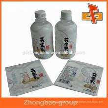Frascos de líquido de amendoim PET encolhendo rótulo com impressão personalizada