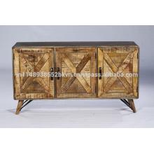Mobiliario industrial de comedor de época Receptáculo de madera reciclado