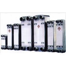 Intercambiador de calor de placas soldadas AISI 316L con motor refrigerado por agua