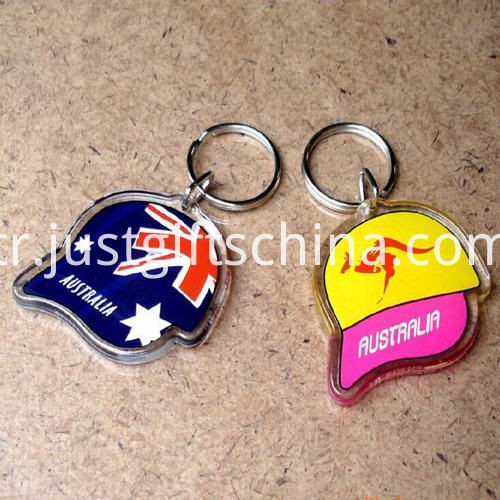 Promotional Acrylic Cap Shaped Keyrings_2