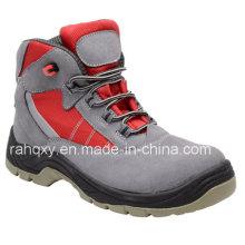 Chaussure de sécurité haut de Suede Gris professionnel (HQ05019)