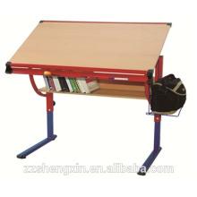 Table de dessin pliante en bois réglable en hauteur pour l'école