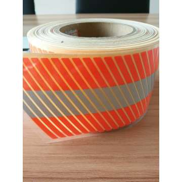 Orange Segmented Heat Transfer Warning Reflective Tape