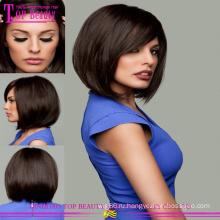 Горячая распродажа бразильские человеческие волосы Реми кружева перед Боб парики