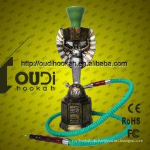 Neue Design Huka Shisha Porzellan Großhandel Glas Rauchen Pfeifen Khalil Mamoon Huka