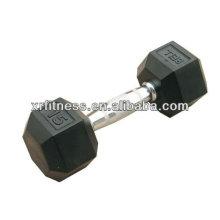 Melhor qualidade Borracha revestida Dumbbell hex / equipamentos de fitness