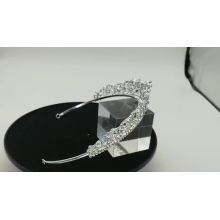 Cristal de prata por atacado redondo coroas de cortejo da china Nobre coroa de noiva de casamento Tiara para a noiva e damas de honra