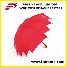 Anômala Manual guarda-chuva aberto com logotipo