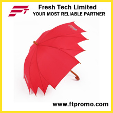Аномальный открытый зонтик с логотипом