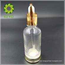 30ml 50ml best selling clear colored empty cosmetic glass dropper bottle