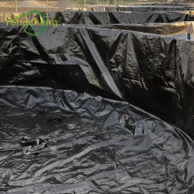 Revêtement d'étang de réservoir de crevettes en feuille de poly tissé HDPE noir