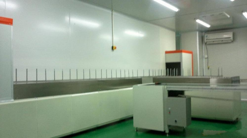 automatic plastic spraying