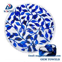 Benutzerdefinierte extra große 100% Mikrofaser Handtuch Decke große Runde Badetuch