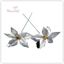 Artificial X′mas Decorative Poinsettia Flowers for Christmas Tree Decoration