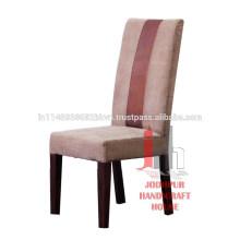 Chaise de chaise en bois en cuir vintage