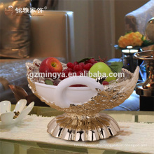 Statue for sale resin animal figurine vegetable fruit compote plate resin peacock statue