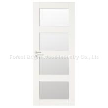 Design moderno branco interior quarto porta com vidro
