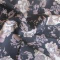 Tecido de vestuário de viscose rosa estampado de tecido simples para vestido feminino