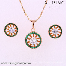 62050-Xuping Copper Jewelry For Woman Brass Jewelry Set with 18K Gold Plated