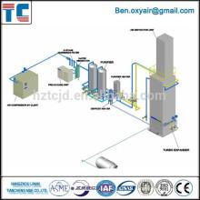 Криогенный кислородный завод низкого давления