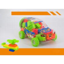 Plastic Educational Toys SUV Vehicle Jar Building Blocks