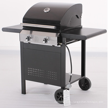 Cheap 2 Burner Barbecue Gas Grill with Trolley