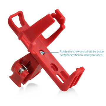 Aluminium Alloy Bicycle Water Bottle Cage Plastic Red