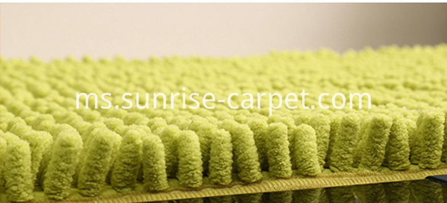 Microfiber Chenille Carpet Rugs green