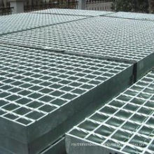 """19W4 Heavy Duty Welded Carbon Steel Bar Grating with 4"""" Cross Bar Spacing, Galvanized Smooth Surface, 1/4"""" Bar Thickness, 48"""" Length X 36"""" Width X 1"""