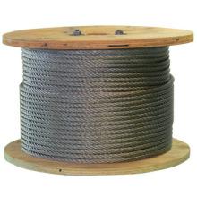 Precio barato de la cuerda de alambre del acero inoxidable del elevador de 12m m