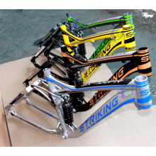 Suave suspensión cuesta abajo 6061 aleación de aluminio marco de 26 pulgadas DH marco