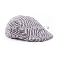 Checked Fashion Cap/Beret Cap in 100% cotton