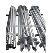 Pilas de tornillo helicoidal de eje redondo de base profunda