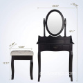 Black New design Wardrobe Dressing Table Designs