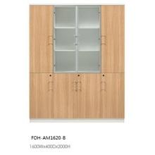 Foh Design moderne Cabinet de bois en bois ouvert Open Office (FOH-AM1620-B)