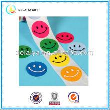 Привлекательная улыбка лица наклейки рулонных sricker для детей