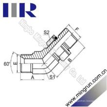 45 Cotovelo Bsp Masculino / Metric Male Hydraulic Tube Adapter (1BH4-OG)