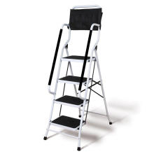 new and perfect solution 4 steps safety home use ladder with twin-side handrails
