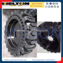 hot sale cheap price solid skid steer tire 10-16.5 with rim together