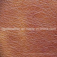 Cuero de muebles de grano irregular (QDL-52070)