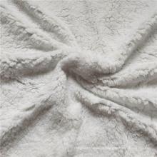 100% poliéster Sherpa velo tecido de algodão