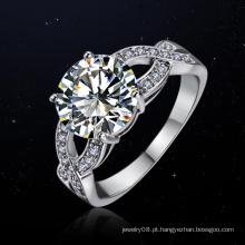 Atacado bling bling nova tendência de jóias eternidade espiral anel de diamante