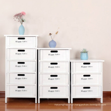 Modern solid paulownia wood bedroom storage cabinet