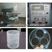 Maquinaria automática de agujeros de vidrio YZ220 con diámetro 220 mm