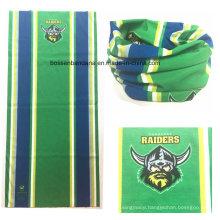 Customized Logo Printing Football Match Cheering Green Neck Scarf Warmer