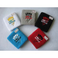 Embroidery Cotton Spandex Terry Sweat Sport Wristband